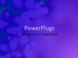 PowerPlugs: PowerPoint template with blue festive background with nice bokeh effect