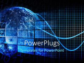 PowerPlugs: PowerPoint template with a blue globe with hi tech images depicting technology concept