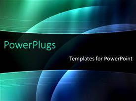 PowerPlugs: PowerPoint template with blue green abstract black background simple underwater glowing round modern