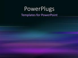 PowerPoint template displaying blue motion blur abstract background in blue and purple