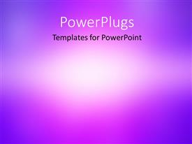 PowerPoint template displaying blue, purple & white abstract background with radial gradient effect