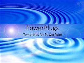 PowerPlugs: PowerPoint template with blue ripples graphics water pond lake