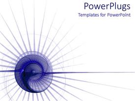 PowerPlugs: PowerPoint template with a blue seashell being represented with a white background