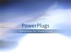 PowerPoint template displaying blue theme