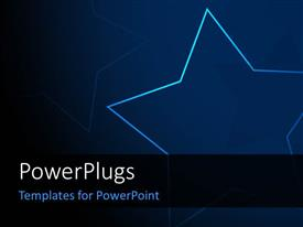 PowerPlugs: PowerPoint template with blue themed gradient background with glowing stars