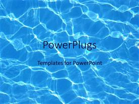 PowerPlugs: PowerPoint template with blue water reflections in pool summer swimming