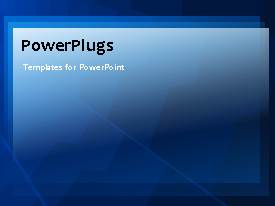 PowerPlugs: PowerPoint template with blue and white black square stacked background abstract technology