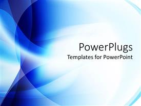 PowerPlugs: PowerPoint template with blue and white blend abstract background