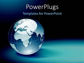 Beautiful PPT layouts with blue and white globe on dark background