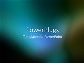 PowerPlugs: PowerPoint template with a bluish background in blurr condition with place for text