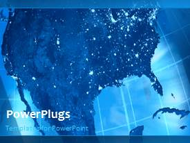 PowerPoint template displaying a bluish background with a bullet point