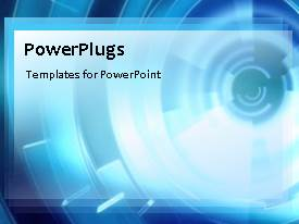 PowerPlugs: PowerPoint template with a bluish background with a bullet point