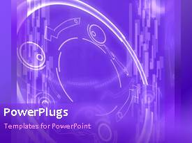 PowerPlugs: PowerPoint template with a bluish background with a figure