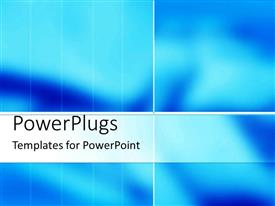 PowerPoint template displaying a bluish background in form of four boxes