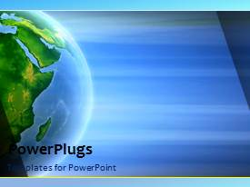 PowerPlugs: PowerPoint template with a bluish background with a globe and place for text