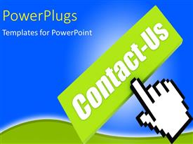 PowerPlugs: PowerPoint template with a bluish background with green signs