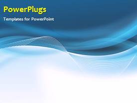 PowerPlugs: PowerPoint template with a bluish background with a growth table