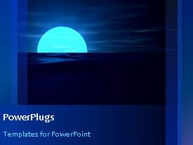 PowerPlugs: PowerPoint template with a bluish background with a moon