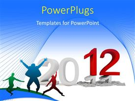 PowerPlugs: PowerPoint template with a bluish background with the new year of 2012