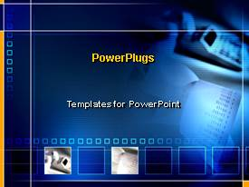 PowerPlugs: PowerPoint template with a bluish background and a number of boxes