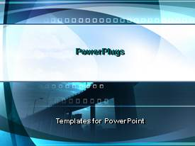 PowerPlugs: PowerPoint template with a bluish background with a number of boxes