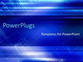 PowerPlugs: PowerPoint template with a bluish abstract background with a number of circles