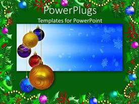 PowerPlugs: PowerPoint template with a bluish background and a number of decoration balls