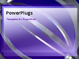 PowerPlugs: PowerPoint template with a bluish background with a number of lines