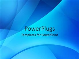 PowerPlugs: PowerPoint template with a bluish background with a number of lines and curves
