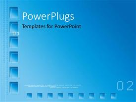 PowerPlugs: PowerPoint template with a bluish background with a number of squares