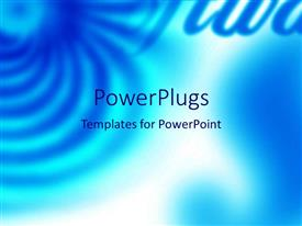 PowerPoint template displaying a bluish background with place for text