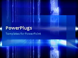 PowerPlugs: PowerPoint template with a bluish background with place for text and text lines