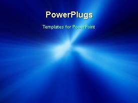 PowerPlugs: PowerPoint template with a bluish background with a sentence