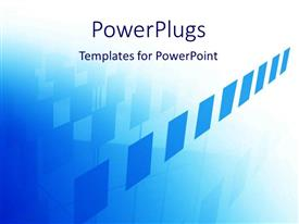 PowerPlugs: PowerPoint template with a bluish background with various squares