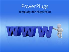 PowerPlugs: PowerPoint template with a bluish background and the www words