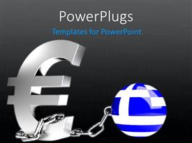 PowerPlugs: PowerPoint template with a bluish globe with a currency sign and blackish background