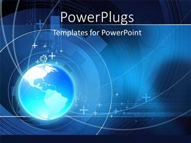 PowerPlugs: PowerPoint template with a bluish globe with a number of circles and place for text
