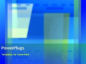 PowerPlugs: PowerPoint template with a bluish and greenish background with a sentence