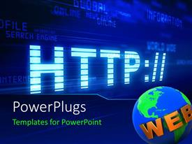 PowerPlugs: PowerPoint template with a bluish screen with a globe and place for text