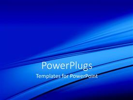 PowerPlugs: PowerPoint template with a bluish screen with a number of lines