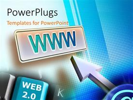PowerPlugs: PowerPoint template with a bluish screen with a number of patterns