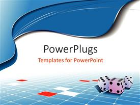PowerPlugs: PowerPoint template with a bluish and white background with dices