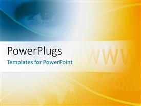 PowerPlugs: PowerPoint template with a bluish and yellowish background with place for text
