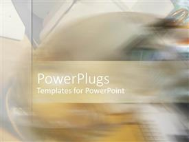 PowerPlugs: PowerPoint template with a blurred background with place for text in middle