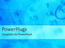 PowerPlugs: PowerPoint template with blurred blue calendar with fifteen date circled with blue pencil