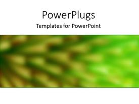 PowerPoint template displaying blurred close up of abstract vision of green surrounded by white background