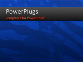 PowerPlugs: PowerPoint template with blurred view of the American flag with the Statue of liberty in background