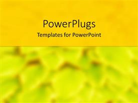 PowerPlugs: PowerPoint template with a blurred yellowish background with place for text in middle
