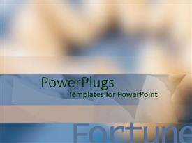PowerPlugs: PowerPoint template with blurry depiction of dental lines with blue and white theme