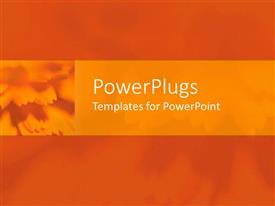 PowerPlugs: PowerPoint template with blurry orange with flowers between Mandarin dahlia